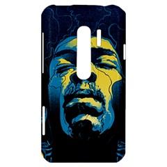 Gabz Jimi Hendrix Voodoo Child Poster Release From Dark Hall Mansion HTC Evo 3D Hardshell Case