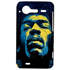 Gabz Jimi Hendrix Voodoo Child Poster Release From Dark Hall Mansion HTC Incredible S Hardshell Case
