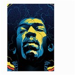 Gabz Jimi Hendrix Voodoo Child Poster Release From Dark Hall Mansion Small Garden Flag (Two Sides) Back