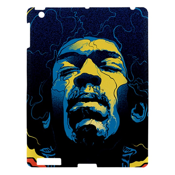 Gabz Jimi Hendrix Voodoo Child Poster Release From Dark Hall Mansion Apple iPad 3/4 Hardshell Case
