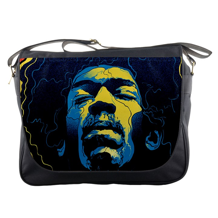 Gabz Jimi Hendrix Voodoo Child Poster Release From Dark Hall Mansion Messenger Bags