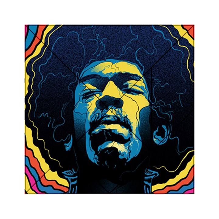 Gabz Jimi Hendrix Voodoo Child Poster Release From Dark Hall Mansion Acrylic Tangram Puzzle (6  x 6 )