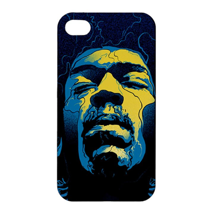 Gabz Jimi Hendrix Voodoo Child Poster Release From Dark Hall Mansion Apple iPhone 4/4S Premium Hardshell Case