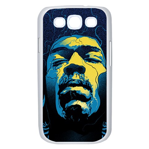 Gabz Jimi Hendrix Voodoo Child Poster Release From Dark Hall Mansion Samsung Galaxy S III Case (White)
