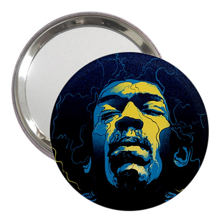 Gabz Jimi Hendrix Voodoo Child Poster Release From Dark Hall Mansion 3  Handbag Mirrors