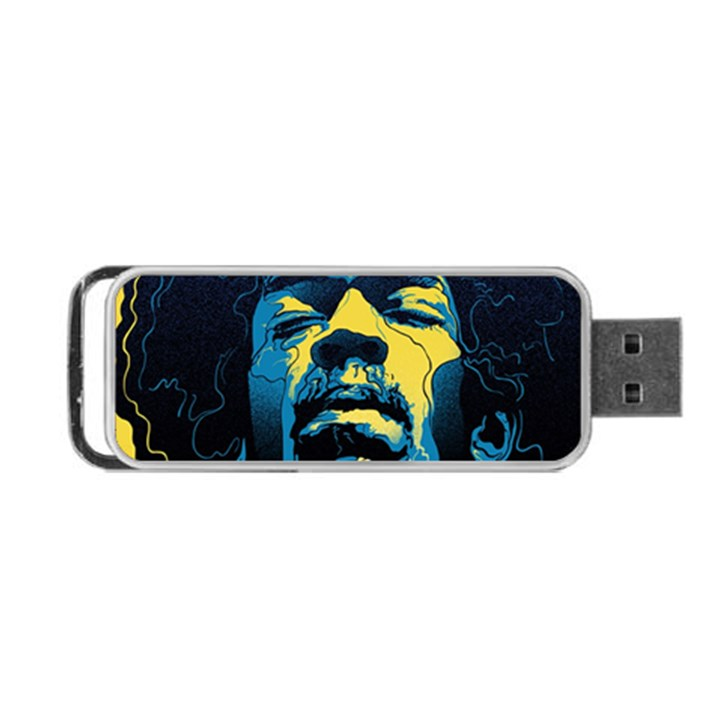 Gabz Jimi Hendrix Voodoo Child Poster Release From Dark Hall Mansion Portable USB Flash (One Side)