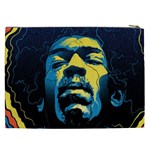 Gabz Jimi Hendrix Voodoo Child Poster Release From Dark Hall Mansion Cosmetic Bag (XXL)  Back