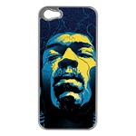 Gabz Jimi Hendrix Voodoo Child Poster Release From Dark Hall Mansion Apple iPhone 5 Case (Silver) Front