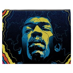 Gabz Jimi Hendrix Voodoo Child Poster Release From Dark Hall Mansion Cosmetic Bag (xxxl)