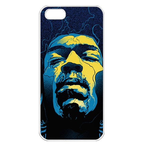 Gabz Jimi Hendrix Voodoo Child Poster Release From Dark Hall Mansion Apple iPhone 5 Seamless Case (White)