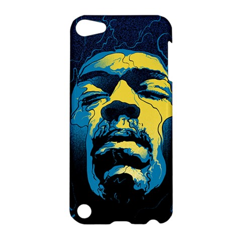 Gabz Jimi Hendrix Voodoo Child Poster Release From Dark Hall Mansion Apple iPod Touch 5 Hardshell Case