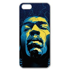 Gabz Jimi Hendrix Voodoo Child Poster Release From Dark Hall Mansion Apple Seamless iPhone 5 Case (Clear)