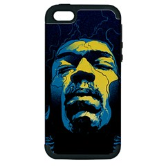 Gabz Jimi Hendrix Voodoo Child Poster Release From Dark Hall Mansion Apple Iphone 5 Hardshell Case (pc+silicone)