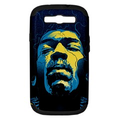 Gabz Jimi Hendrix Voodoo Child Poster Release From Dark Hall Mansion Samsung Galaxy S III Hardshell Case (PC+Silicone)
