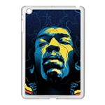 Gabz Jimi Hendrix Voodoo Child Poster Release From Dark Hall Mansion Apple iPad Mini Case (White) Front