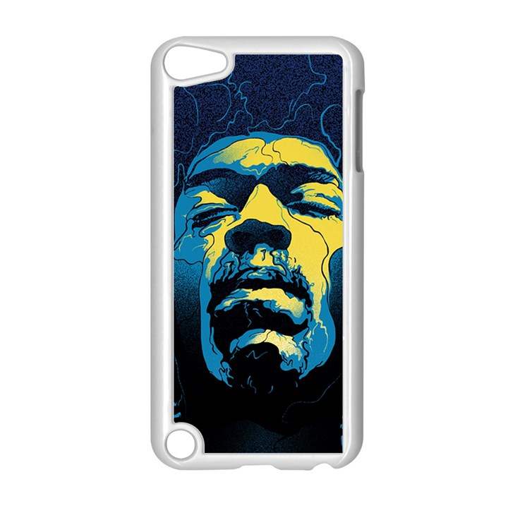 Gabz Jimi Hendrix Voodoo Child Poster Release From Dark Hall Mansion Apple iPod Touch 5 Case (White)