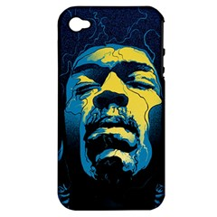 Gabz Jimi Hendrix Voodoo Child Poster Release From Dark Hall Mansion Apple iPhone 4/4S Hardshell Case (PC+Silicone)