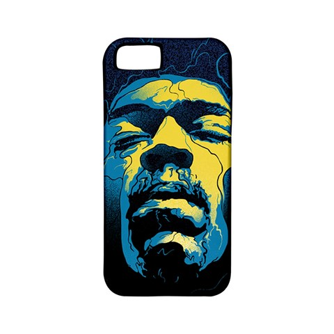 Gabz Jimi Hendrix Voodoo Child Poster Release From Dark Hall Mansion Apple iPhone 5 Classic Hardshell Case (PC+Silicone)
