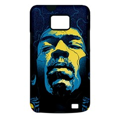 Gabz Jimi Hendrix Voodoo Child Poster Release From Dark Hall Mansion Samsung Galaxy S II i9100 Hardshell Case (PC+Silicone)