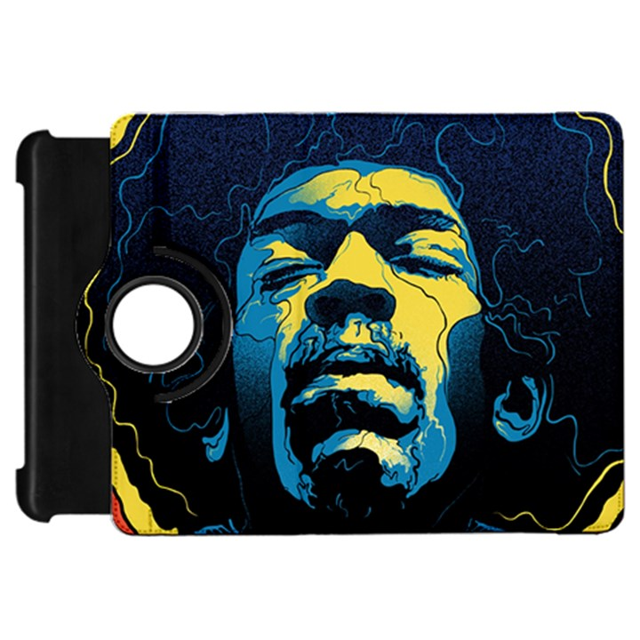 Gabz Jimi Hendrix Voodoo Child Poster Release From Dark Hall Mansion Kindle Fire HD Flip 360 Case