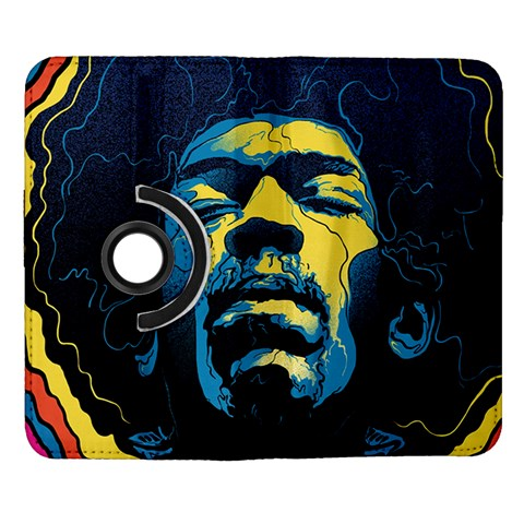 Gabz Jimi Hendrix Voodoo Child Poster Release From Dark Hall Mansion Samsung Galaxy Note II Flip 360 Case