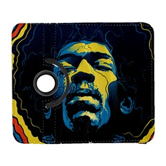 Gabz Jimi Hendrix Voodoo Child Poster Release From Dark Hall Mansion Samsung Galaxy S  III Flip 360 Case