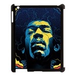 Gabz Jimi Hendrix Voodoo Child Poster Release From Dark Hall Mansion Apple iPad 3/4 Case (Black) Front