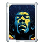 Gabz Jimi Hendrix Voodoo Child Poster Release From Dark Hall Mansion Apple iPad 3/4 Case (White) Front