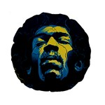 Gabz Jimi Hendrix Voodoo Child Poster Release From Dark Hall Mansion Standard 15  Premium Round Cushions Front