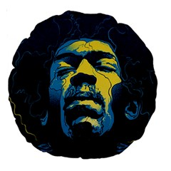 Gabz Jimi Hendrix Voodoo Child Poster Release From Dark Hall Mansion Large 18  Premium Round Cushions