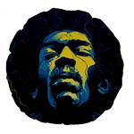 Gabz Jimi Hendrix Voodoo Child Poster Release From Dark Hall Mansion Large 18  Premium Round Cushions Back