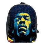 Gabz Jimi Hendrix Voodoo Child Poster Release From Dark Hall Mansion School Bags (XL)  Front