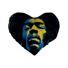 Gabz Jimi Hendrix Voodoo Child Poster Release From Dark Hall Mansion Standard 16  Premium Heart Shape Cushions