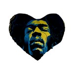 Gabz Jimi Hendrix Voodoo Child Poster Release From Dark Hall Mansion Standard 16  Premium Heart Shape Cushions Front