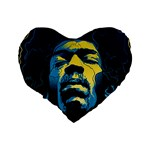 Gabz Jimi Hendrix Voodoo Child Poster Release From Dark Hall Mansion Standard 16  Premium Heart Shape Cushions Back