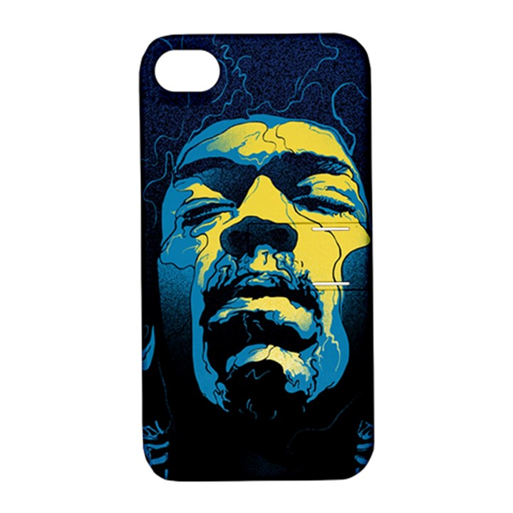 Gabz Jimi Hendrix Voodoo Child Poster Release From Dark Hall Mansion Apple iPhone 4/4S Hardshell Case with Stand