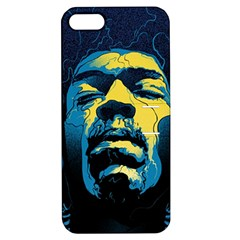 Gabz Jimi Hendrix Voodoo Child Poster Release From Dark Hall Mansion Apple iPhone 5 Hardshell Case with Stand