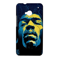 Gabz Jimi Hendrix Voodoo Child Poster Release From Dark Hall Mansion HTC One M7 Hardshell Case