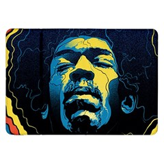 Gabz Jimi Hendrix Voodoo Child Poster Release From Dark Hall Mansion Samsung Galaxy Tab 8.9  P7300 Flip Case
