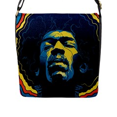 Gabz Jimi Hendrix Voodoo Child Poster Release From Dark Hall Mansion Flap Messenger Bag (l)
