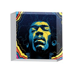Gabz Jimi Hendrix Voodoo Child Poster Release From Dark Hall Mansion 4 x 4  Acrylic Photo Blocks