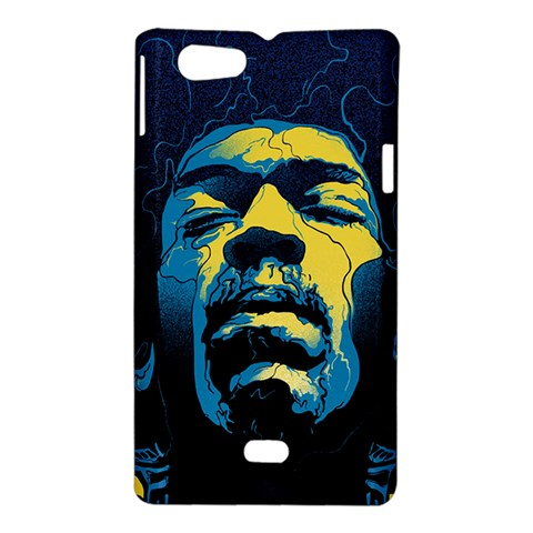 Gabz Jimi Hendrix Voodoo Child Poster Release From Dark Hall Mansion Sony Xperia Miro