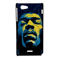 Gabz Jimi Hendrix Voodoo Child Poster Release From Dark Hall Mansion Sony Xperia J