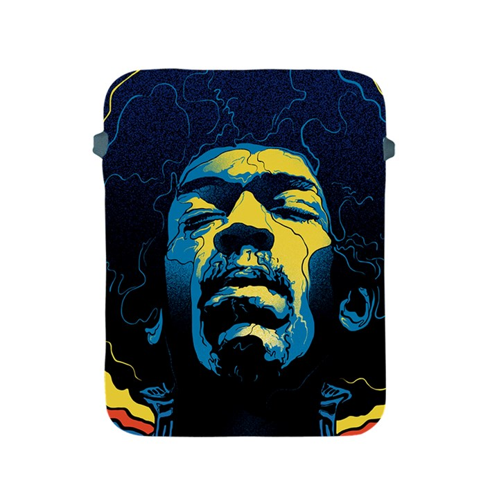 Gabz Jimi Hendrix Voodoo Child Poster Release From Dark Hall Mansion Apple iPad 2/3/4 Protective Soft Cases