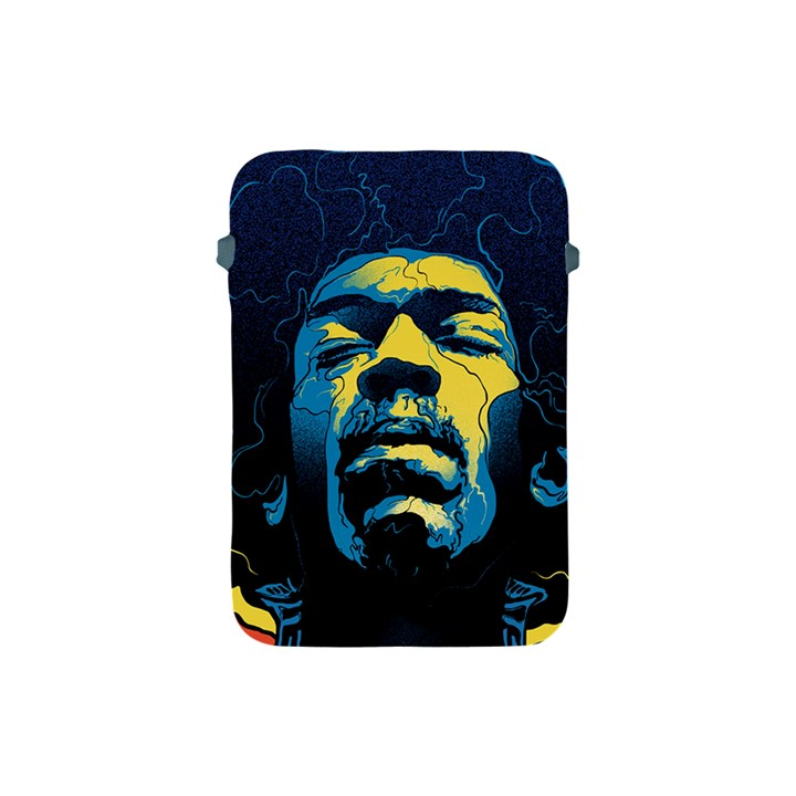 Gabz Jimi Hendrix Voodoo Child Poster Release From Dark Hall Mansion Apple iPad Mini Protective Soft Cases