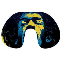 Gabz Jimi Hendrix Voodoo Child Poster Release From Dark Hall Mansion Travel Neck Pillows