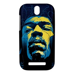 Gabz Jimi Hendrix Voodoo Child Poster Release From Dark Hall Mansion HTC One SV Hardshell Case