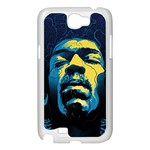 Gabz Jimi Hendrix Voodoo Child Poster Release From Dark Hall Mansion Samsung Galaxy Note 2 Case (White) Front