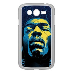 Gabz Jimi Hendrix Voodoo Child Poster Release From Dark Hall Mansion Samsung Galaxy Grand DUOS I9082 Case (White)