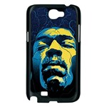 Gabz Jimi Hendrix Voodoo Child Poster Release From Dark Hall Mansion Samsung Galaxy Note 2 Case (Black) Front